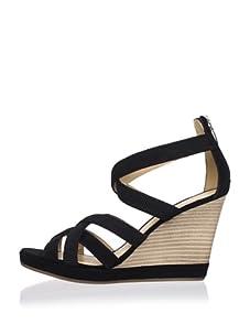 Geox Women's Sibilla Wedge Sandal (Black)