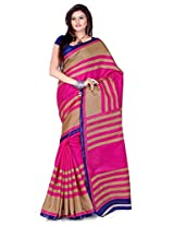 Cenizas Cotton Silk Saree (3301 Pink)