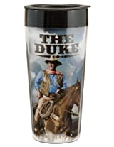 Vandor 15251 John Wayne 16 oz Plastic Travel Mug, Multicolor