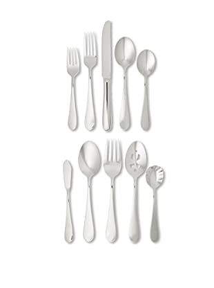 Wallace 65-Piece Continental Classic Flatware Set, Silver