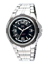 Q Q Silver Analog Men Watch 100Q252J405Y