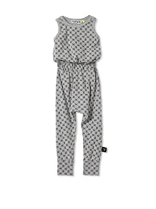 NUNUNU Kid's Checkered Romper (Heather Grey)