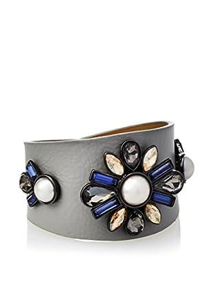Fragments Montana & Pearl Leather Wrap Bracelet
