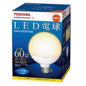 東芝 LED電球 ボール電球 → 色合い生肉色