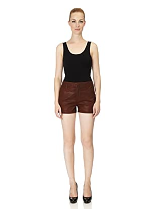 J Brand Shorts Lola High Rise coated clean (coatedclay)