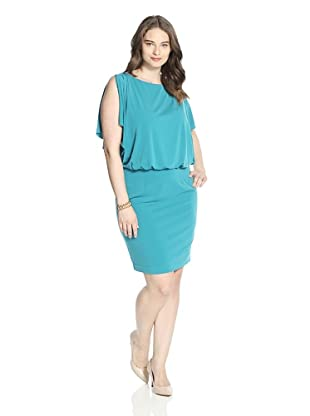 Jessica Simpson Women's Flutter Sleeve Dress (Biscay Bay)