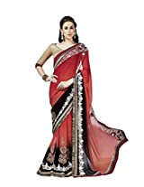 Manvaa Saree (Red Black)