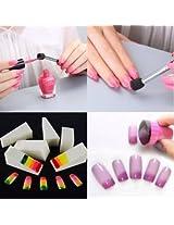 Nail Art DIY Sponge Pen Stamp Buffer Stamping Polish Transfer Manicure Set Kit
