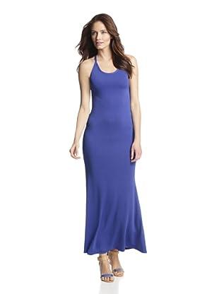 JOSA Tulum Women's Maxi Dress with Crisscross Straps (Cobalt Blue)