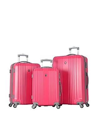 Olympia Corsair 3Pc Hardcase Set, Pink