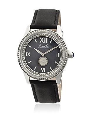 Bertha Uhr mit Japanischem Quarzuhrwerk Emma schwarz 42 mm