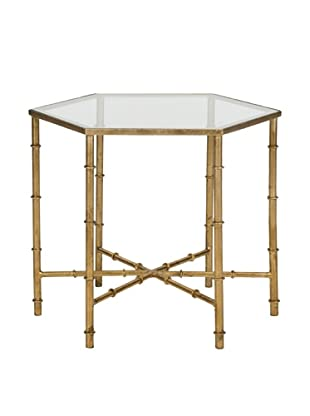 Safavieh Kerri Accent Table, Gold/Clear