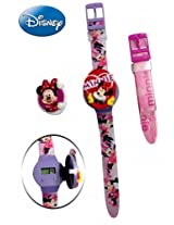 Disney Digital Purple Dial Children's Watch - 6500037