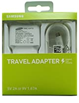 Original Samsung 2.0Amp Travel Adapter Charger + Micro Usb Cable Ep-Ta20Iweugin (White)