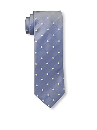 Rossovivo Men's Diamond Tie, Blue/Yellow
