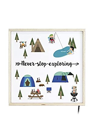 LITTLE NICE THINGS Panel Decorativo Luminoso LED Camping