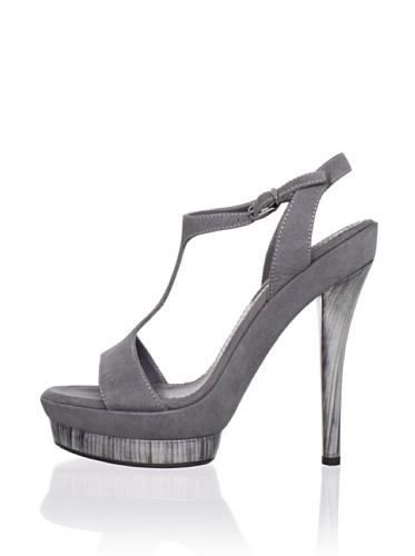 JIL SANDER Women's T-Strap Platform Sandal (Dark Grey)