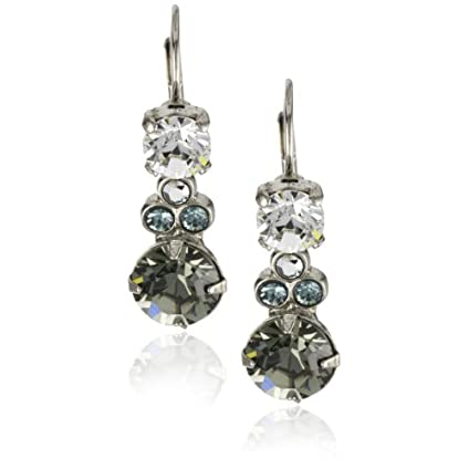 Sorrelli Running Water Linear Crystal Dangle Silver Tone Earrings