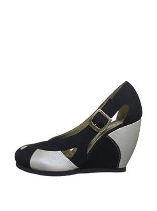 Fly London Zapatos Bicolor (Plata / Negro)