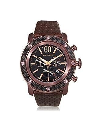 Glam Rock Men's GR33110 SoBe Chronograph Black/Brown Leather Watch