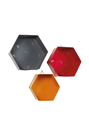 Set 3 Estanterias Hexagonales Exago Multicolor