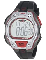 Timex Men's T5K6899J Ironman Traditional 50-Lap Full-Size Black Silver-Tone and Magenta Resin Strap Watch