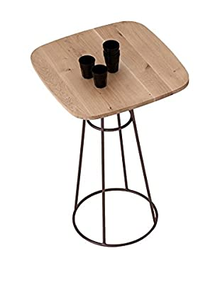 Domitalia Barrique Table, Bronze/Light Wood