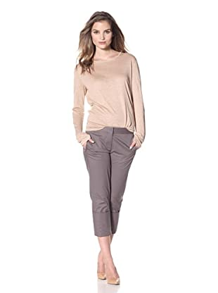 KaufmanFranco Women's Crop Pant with Cuffs (Dark Lead)