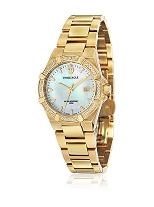 Swiss Eagle Uhr mit Schweizer Quarzuhrwerk Glide goldfarben 34 mm