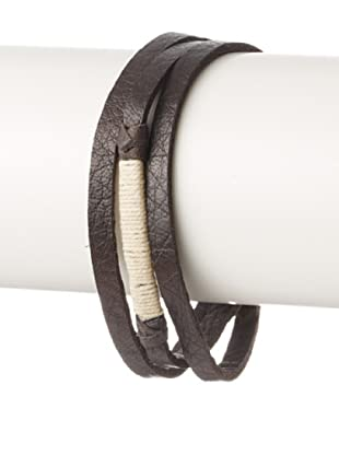 Griffin Chocolate Legend Leather Triple Wrap Bracelet
