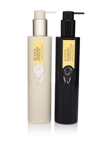 Ecoya Wild Frangipani Hand/Body Lotion and Liquid Soap, 2 Pack