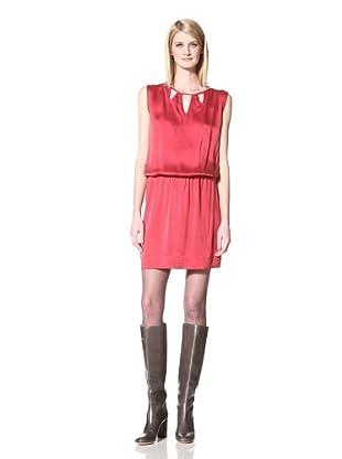 Akiko Women's Washed Silk Dress (Ruby Red)