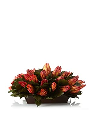 Forever Green Art Red Protea Tray
