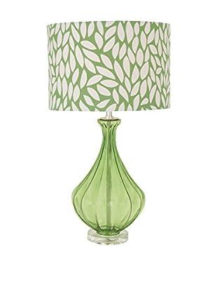 Glass & Acrylic Table Lamp, Green