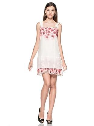 Eccentrica Vestido Hollie (Blanco/Rosa)