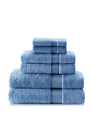 Espalma 6-Piece Signature Bath Towel Set (Cornflower)