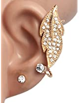 Xpressionss Metal Ear Cuff Earring For Women (Gold)