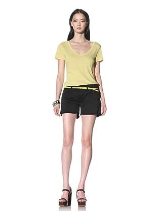 James Jeans Women's Shorty Boyfriend Shorts (Black)