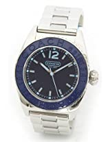 Coach Women Boyfriend Style Watch Andee Collection Blue Dial With Ss Bracelet 14501381 - 14501381