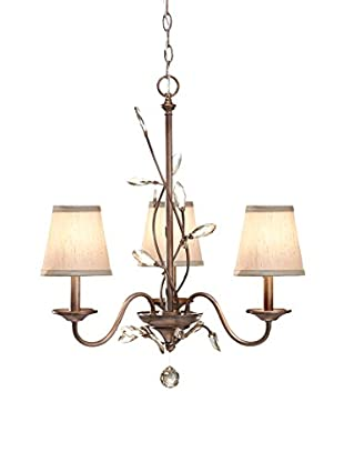 Feiss 3-Light Single Tier Chandelier, Arctic Silver