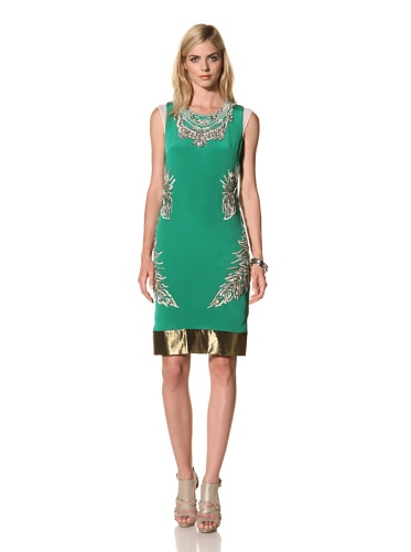 Thakoon Women's Embroidered Shift Dress (Kelly Green)