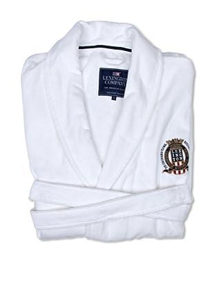 Lexington Company Albornoz Liso Con Escudo (Blanco)