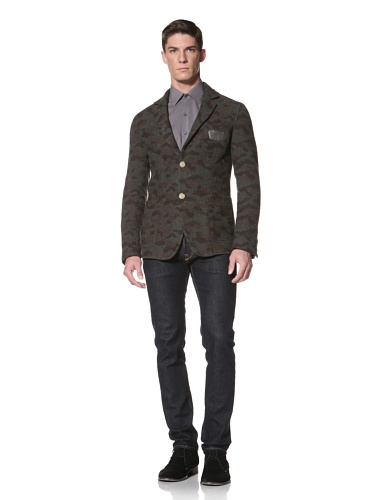 LOVE Moschino Men's Tweed Blazer (Camouflage Brown)