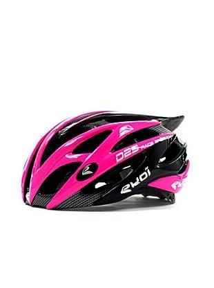 Ekoi Casco de ciclismo Diablo (negro/rosa)