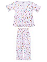 Henry kids Baby-Girls' 5-6 Years Cotton Night Suit (GN5_5-6 Years_PINK, Pink, 5-6 Years)