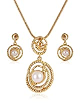 Estelle Gold Plated  With Pearl Necklace set for Women (7593)