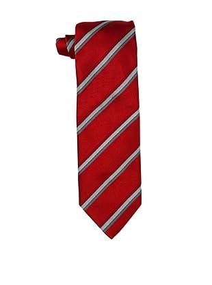 Massimo Bizzocchi Men's Tri-Stripe Tie, Red