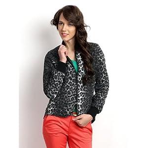 ONLY Women Black & Brown Leopard Print Padded Jacket