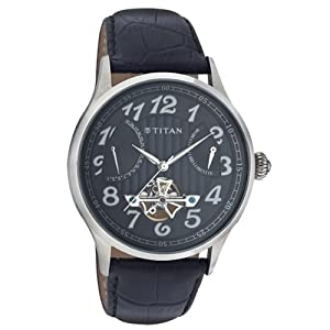 Titan Analog Black Dial Men's Watch - 9367SL03