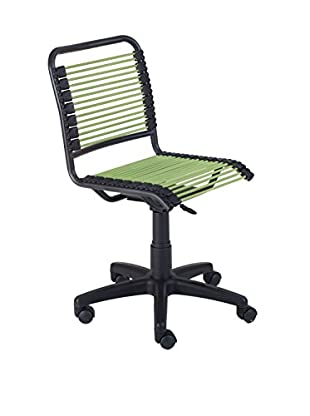 Euro Style Bungie Low Back Office Chair, Green
